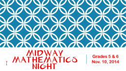 PowerPoint of Parent Mathmatics Night