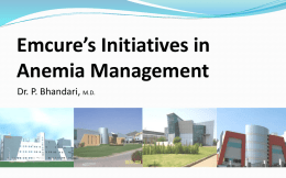 Emcure`s Initiatives in Anemia Management