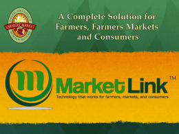 MarketLink TM - Farmers Market