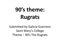 90`s theme: Rugrats