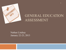 General Education Assessment Powerpoint