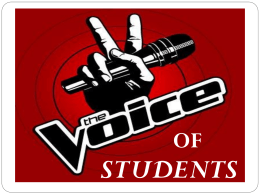 STUDENT VOICE PPT (ISLN--all regions)