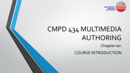 Chap00-CMPD 434-Course Outline - MetaLab