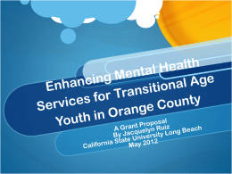 Enhancing Mental Health Services for Transitional Age Youth in