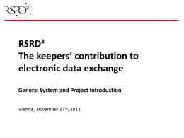 RSRD² Project