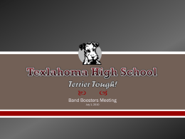Terrier Tough! Texlahoma High School