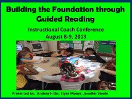 Guided Reading What it is?