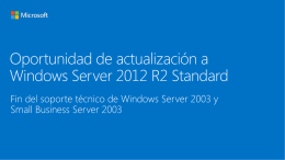 Windows Server 2012 R2 Standard Upgrade Opportunity