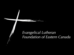 Evangelical Lutheran Foundation of Eastern Canada (ELFEC)