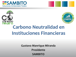 Carbono Neutralidad en Instituciones Financieras
