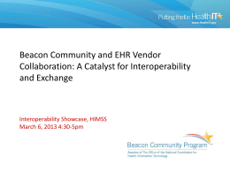Beacon EHR Vendor Affinity Group