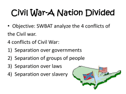 CIVIL WAR-Acrostic Poem!