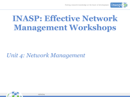 Unit 4 Network management basics