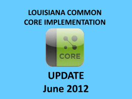 Common Core Update