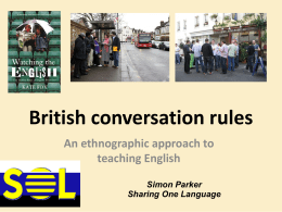 British conversation rules