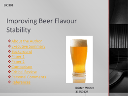 03-31250128 Improving Beer Flavour Stability