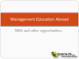 Management Education Abroad