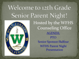 15 Senior Parent Night PPT