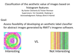 Classification of the aesthetic value of images based on histogram