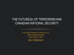 The future(s) of terrorism and Canadian national security