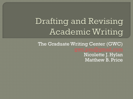 Drafting and Revising Academic Writing PPT 2012