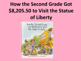 How the Second Grade Got $8205.50 to Visit the Statue of Liberty