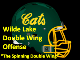 "Wilde Lake Double Wing Offense ""The Spinning"