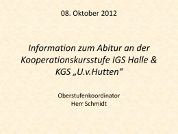 Informationsveranstaltung 27. August 2009