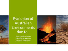 Evolution of Australian Environments