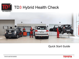 Before you start - Toyota