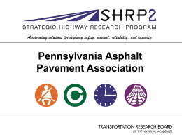Strategic Highway Research Program (SHRP) II