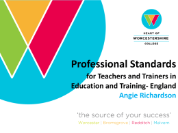 my Powerpoint slides - The Education and Training Foundation