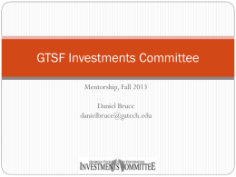 GTSF Investments Committee - Georgia Tech Student Foundation