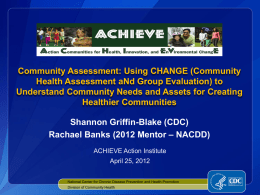 Community Health Assessment aNd Group Evaluation