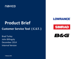 Customer Servce Tool Verison 2.0 Product Breif