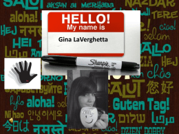 (Gina LaVerghetta) at the young age of 16