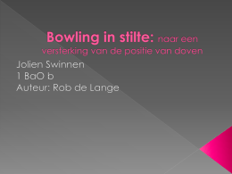 Bowling in stilte - Audio