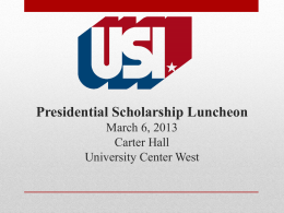 Presidential Scholarship Luncheon