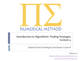 Optimal Pairs Trading: A Stochastic Control Approach
