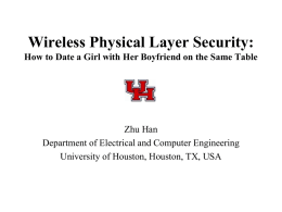 Short - Wireless networking, Signal processing and security Lab