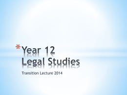 Year 12 Legal Studies