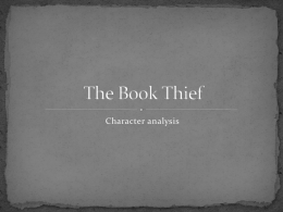 The Book Thief character analysis