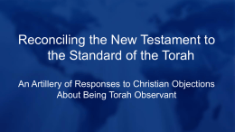 Reconciling the New Testament to the Standard of