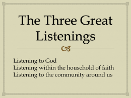 The Three Great Listenings Powerpoint Presentation