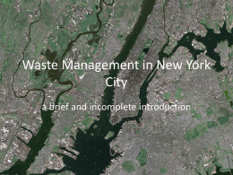 Waste Management in New York City