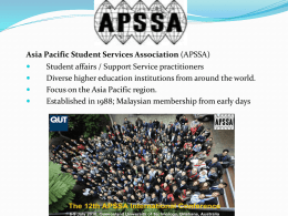 Asia Pacific Student Services Association