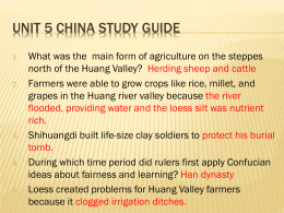 Unit 5 China Study Guide - Marshall Community Schools