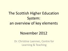 Teaching in the Scottish HE System