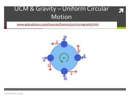 Uniform Circular Motion PP