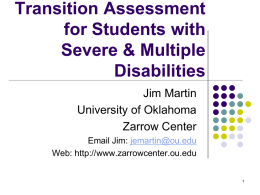 Student Transition Assessment PowerPoint slides